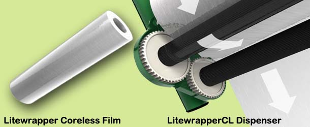 LiteWrapper Stretch Film Dispenser and Rolls