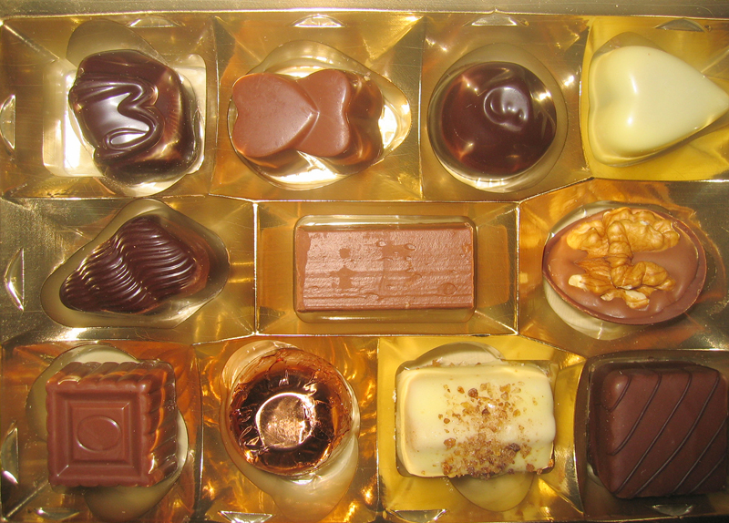 shrink wrapping chocolates